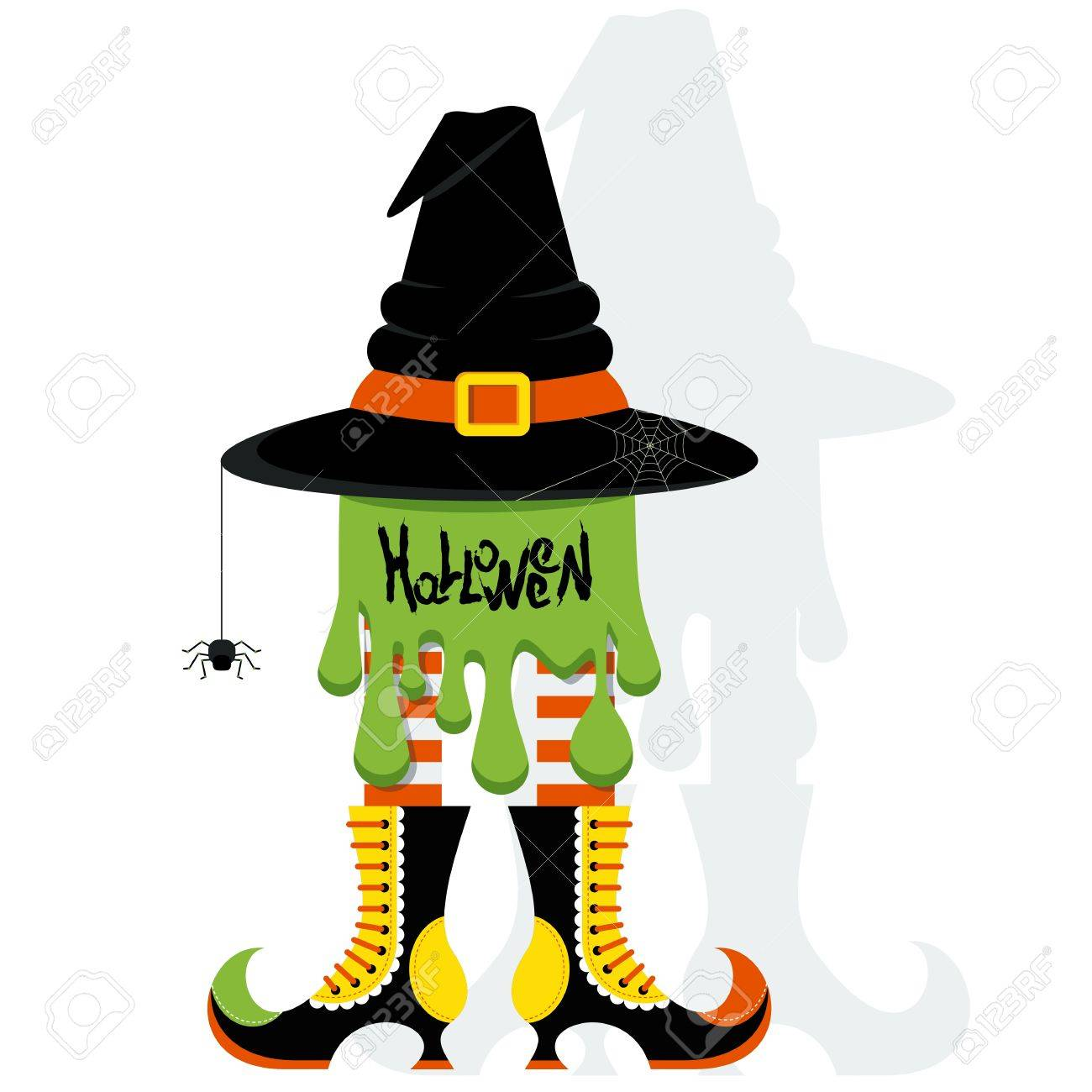 Vector Halloween Party Poster Template Halloween Witch Hat With Royalty Free Cliparts Vectors And Stock Illustration Image 63313878