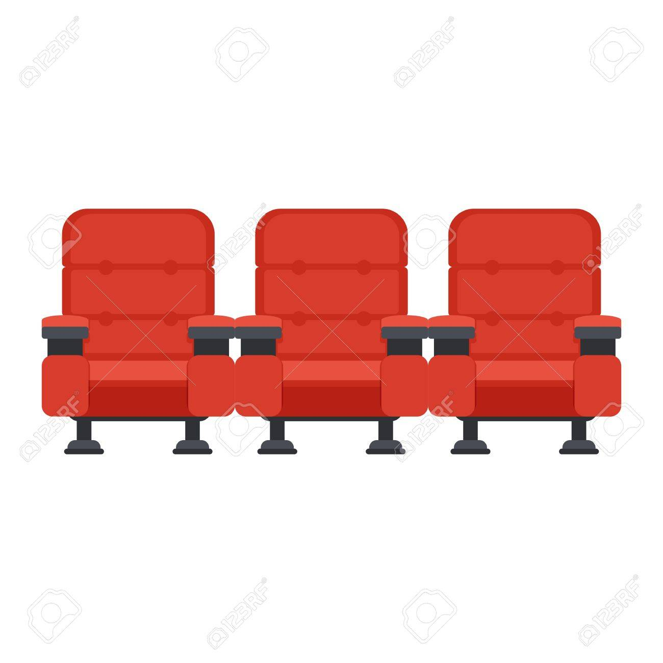 Auditorium And Seats In A Movie Theater Flat Vector Cartoon Royalty Free Cliparts Vectors And Stock Illustration Image 68696951