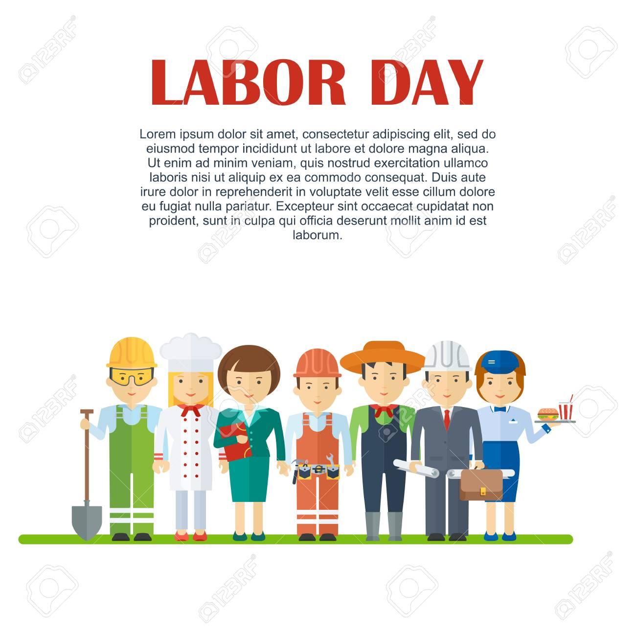 Dia Del Trabajador Mujeres conjunto de hombres y mujeres de diversas profesiones. día del trabajo,  servicio de empleo, recursos humanos en diversas industrias.