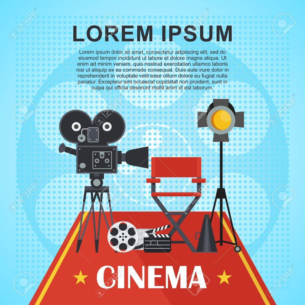 Regisseur Stuhl Und Suchscheinwerfer, Film, Klöppel. Vorlage ...