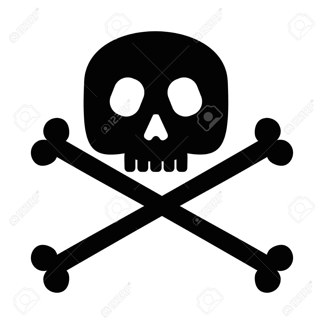 Calavera Bandera Pirata Elemento De Diseño De Halloween