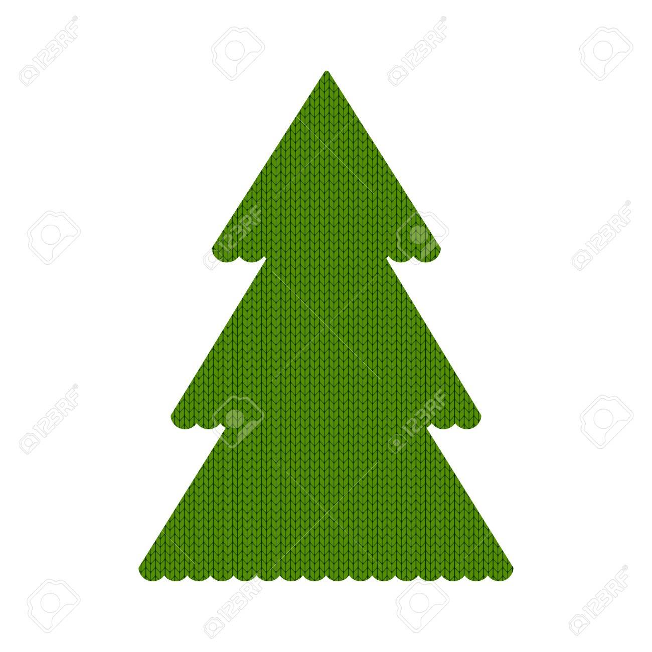 Vector De árbol De Navidad Hecho Punto Ilustración De Dibujos