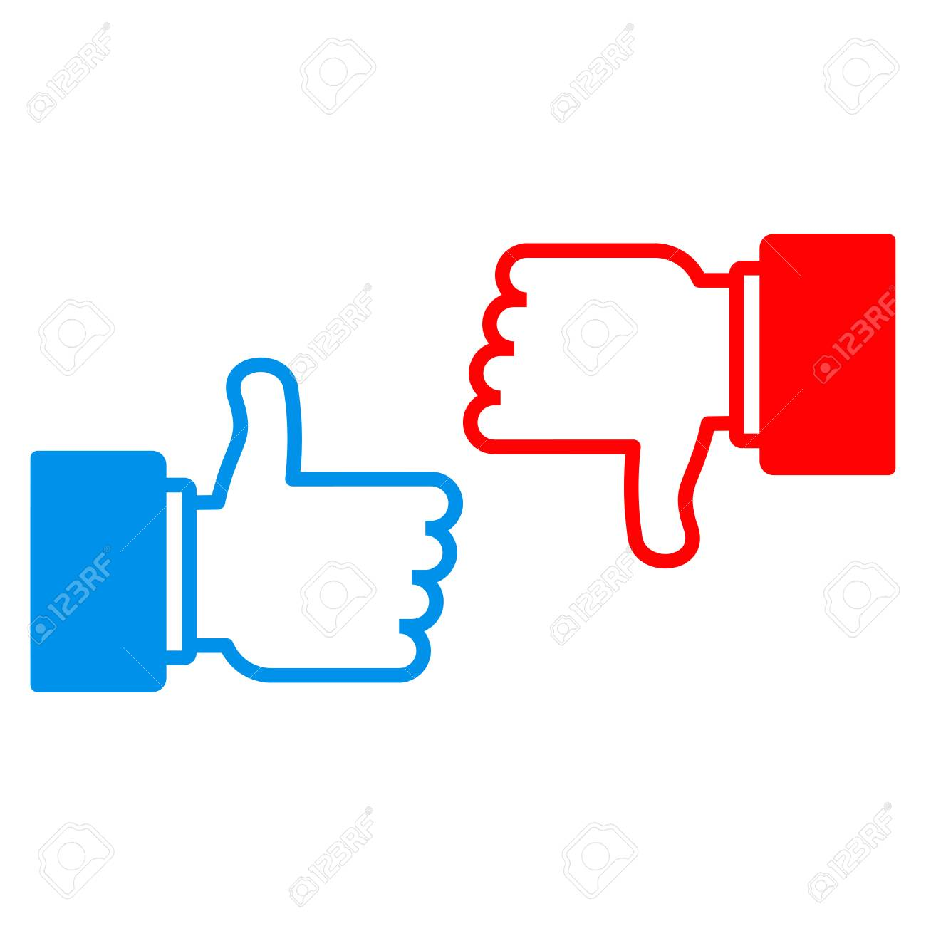 I Like And Dislike Sign Conceptual Symbol For Approval In Social