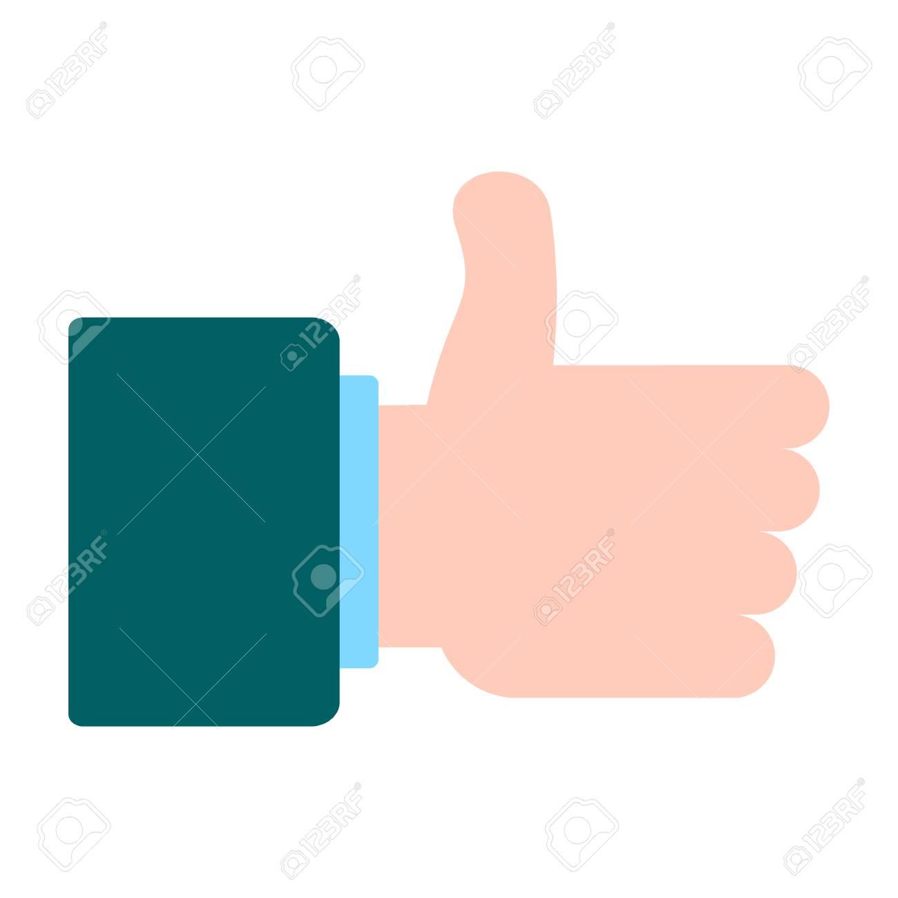 I Like Vector Sign Conceptual Symbol For Approval In Social Media