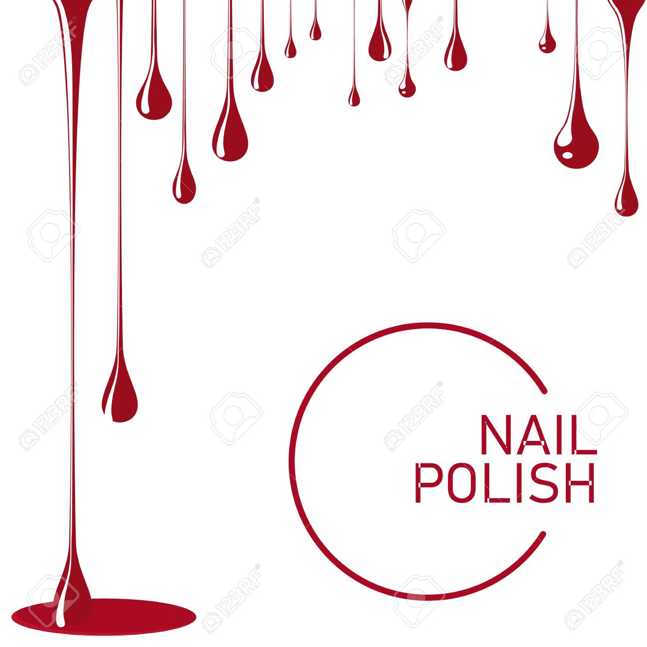 Nail Polish Spill. Template For Advertising Flyer, Business Card ...