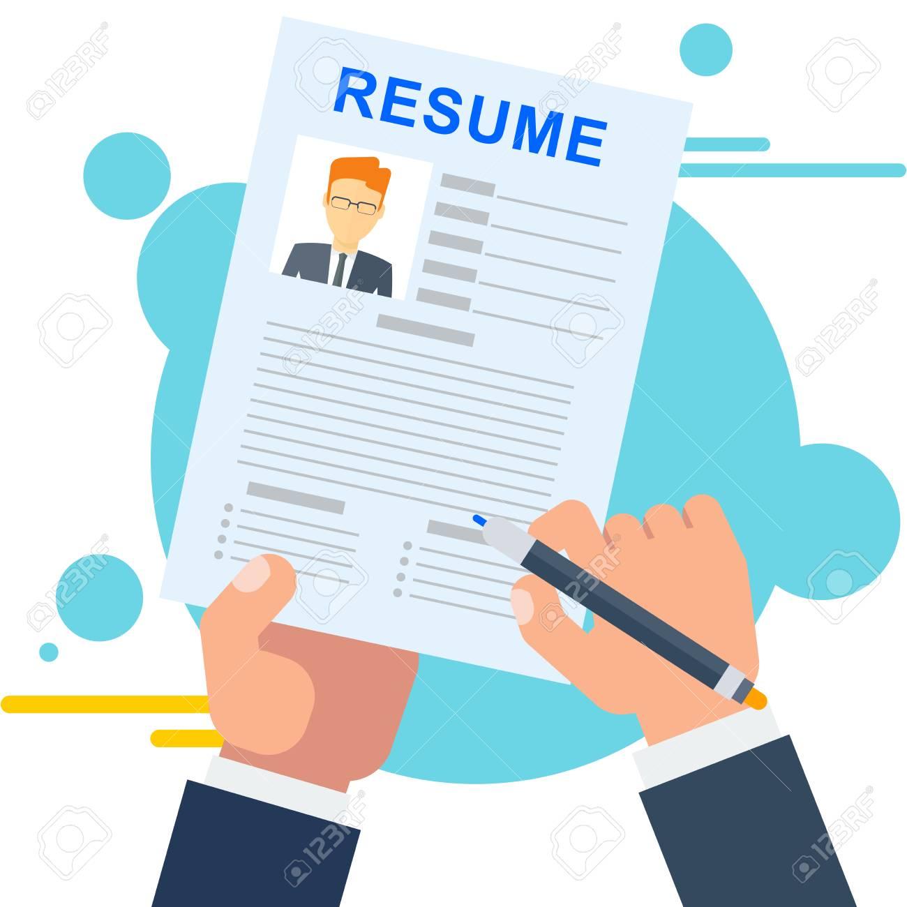 Resume Of Potential Employee Job Seekers And Vacancies Hiring