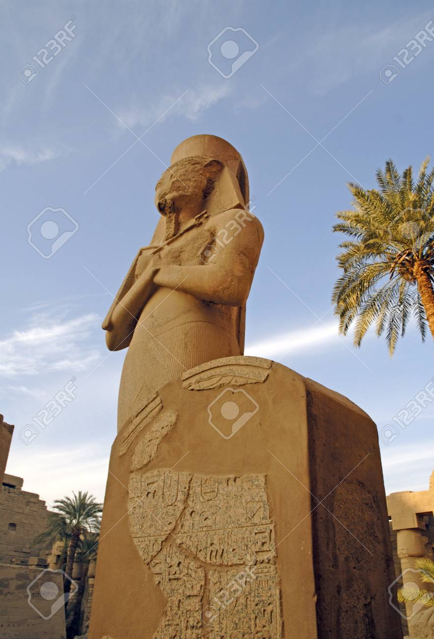 The Ancient Temple Complex of Karnak near Luxor in the Nile Valley in Egypt Stock Photo - 9608373