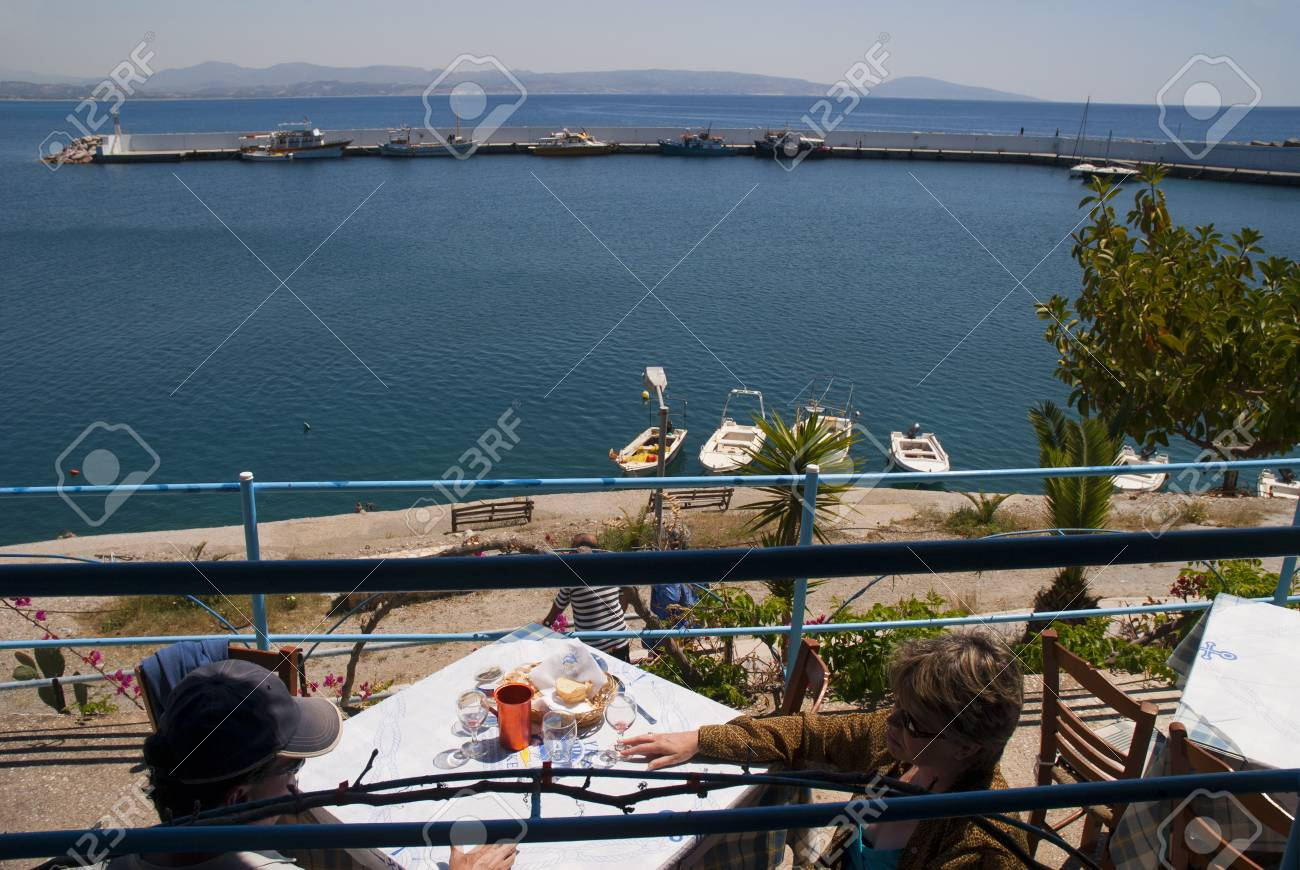 The Harbour at Agios Galini Crete Greece Stock Photo - 14543743