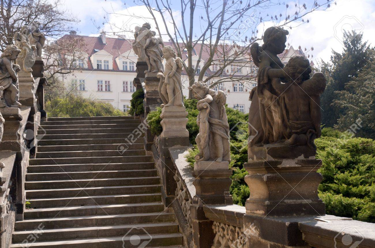 Stairs in Prague in the Czech Republic Stock Photo - 12245797