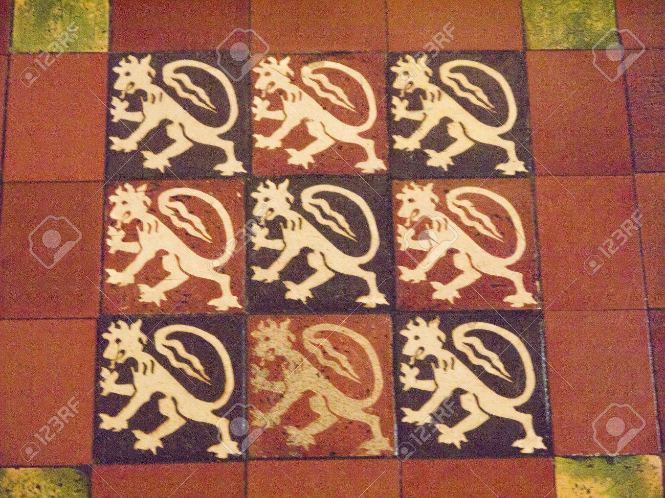Medieval Floor Tiles In St Patricks Anglican Cathedral In Dublin ...
