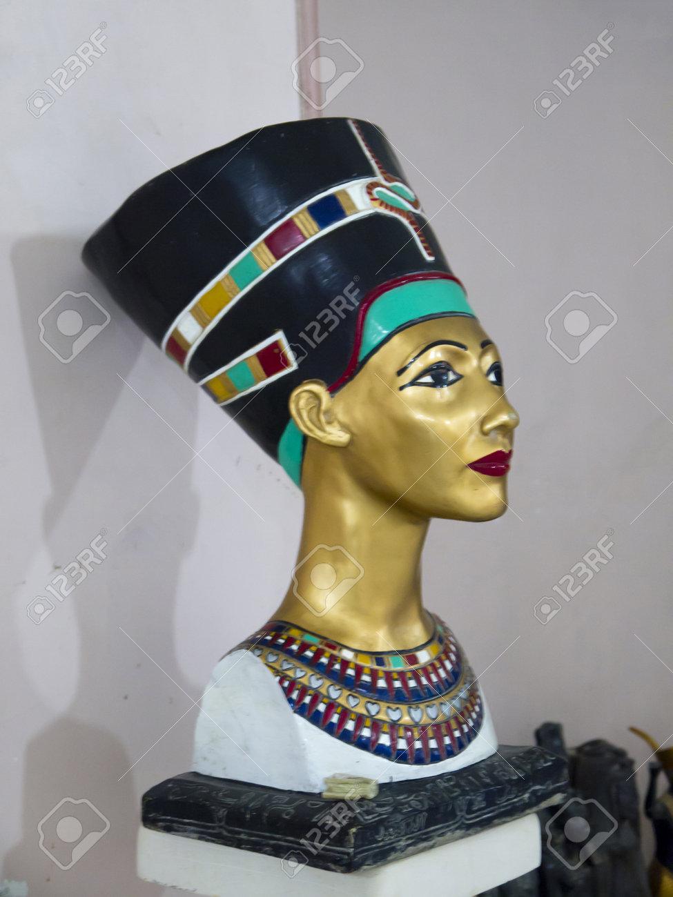 Copy of Statue of Egyptian Queen Nefertiti