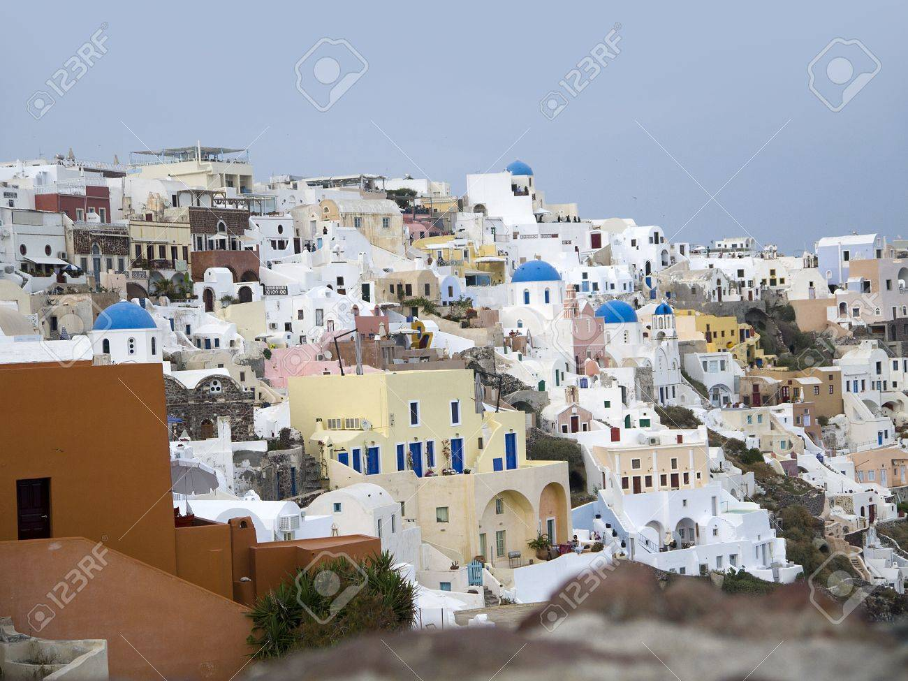 The Town of Oia on the Island of Santorini Greece Stock Photo - 13945400