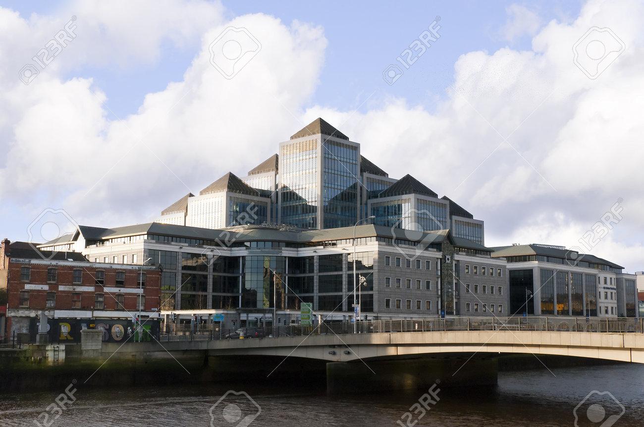 Celtic Tiger Economy Modern Building in Dublin City Ireland