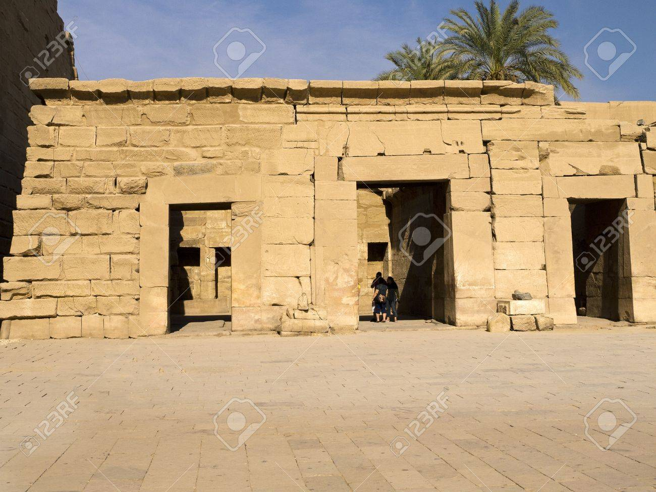 The Treasure House at Ancient Temple Complex of Karnak near Luxor in the Nile Valley in Egypt Stock Photo - 14338591