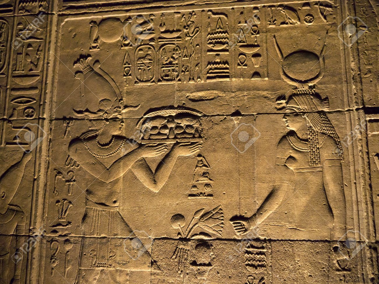 The Temple to Isis, Horus and Osiris on Philae Island on the