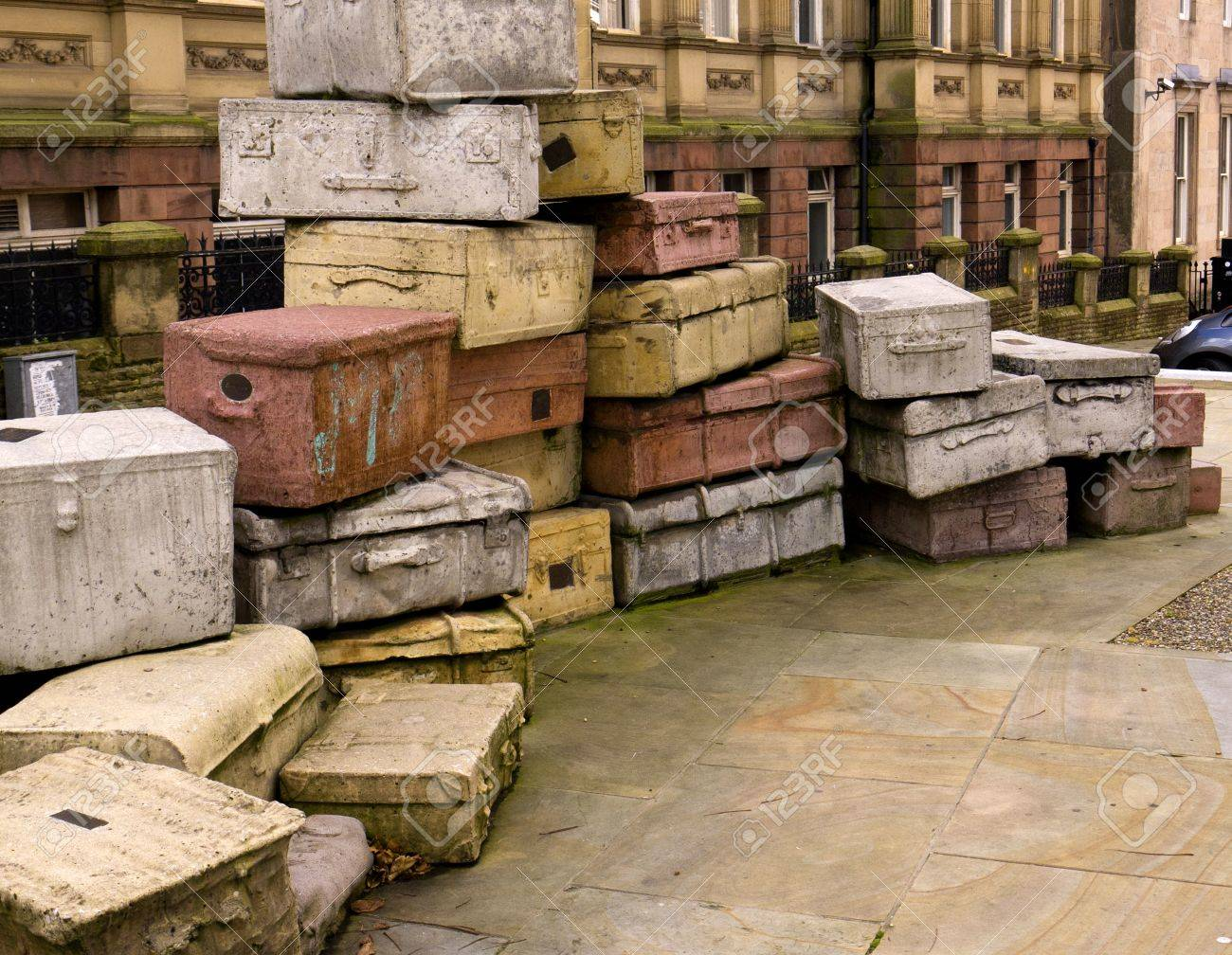 Sculpture called Case Study in the street in Liverpool England Stock Photo - 15664678
