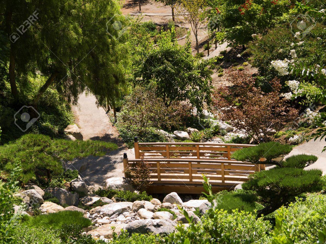 Japanese Garden In Balboa Park, San Diego, California USA Stock ...