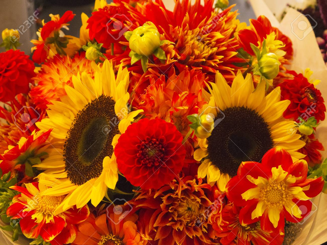 Flowers in Pike Place Farmers Market,Seattle ,Washington State USA Stock Photo - 17201645