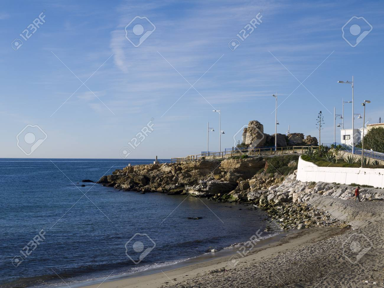 Beach at Nerja Andalucia Spain Stock Photo - 17562426