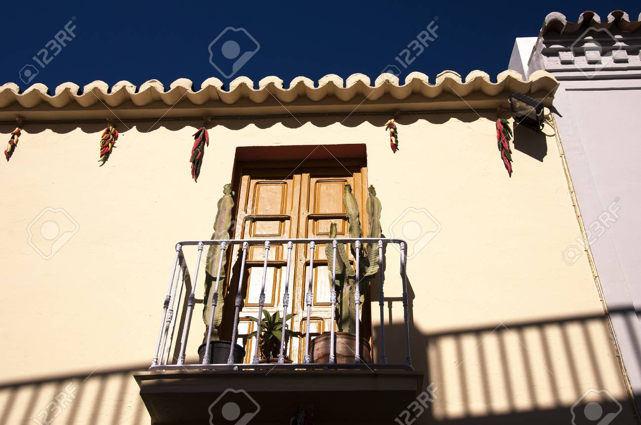 The narrow cobbled streets of Nerja in Andalucia Spain Stock Photo - 17561885