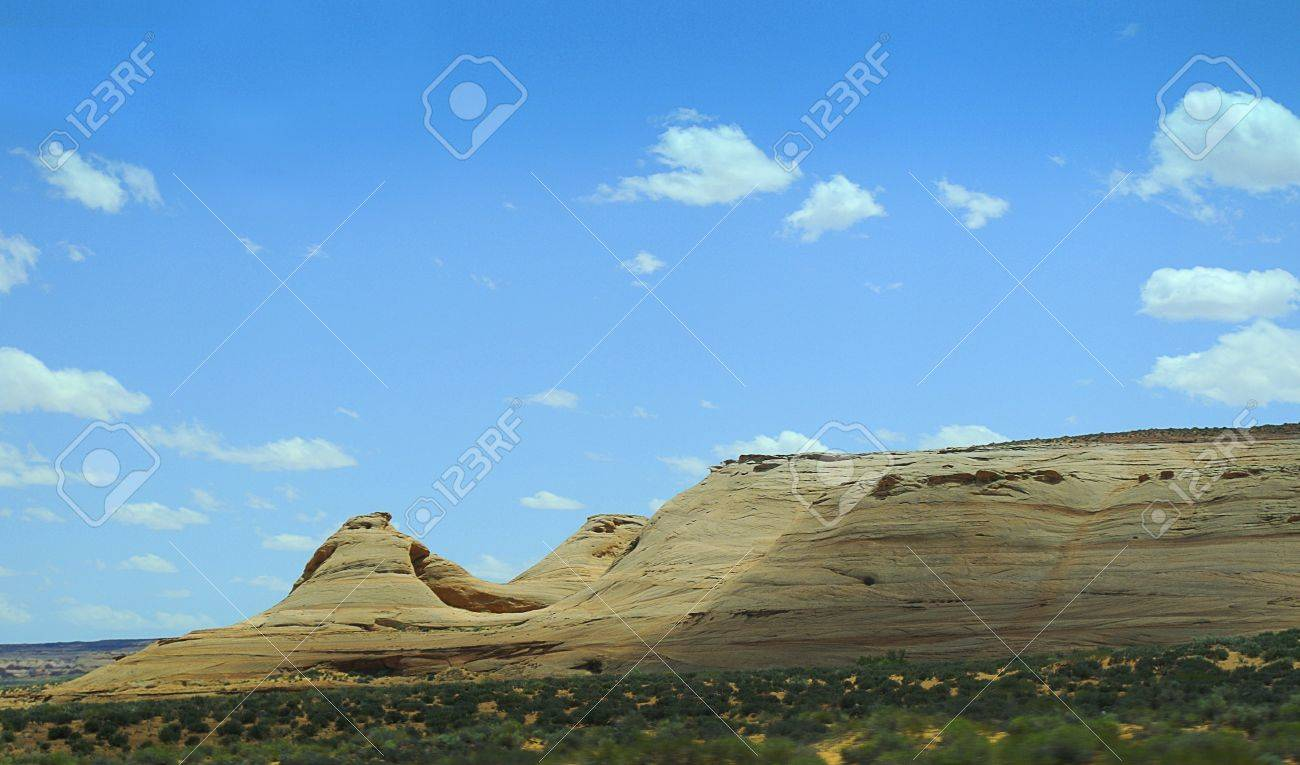 Hills in the Mohave desert Nevada USA Stock Photo - 18195417