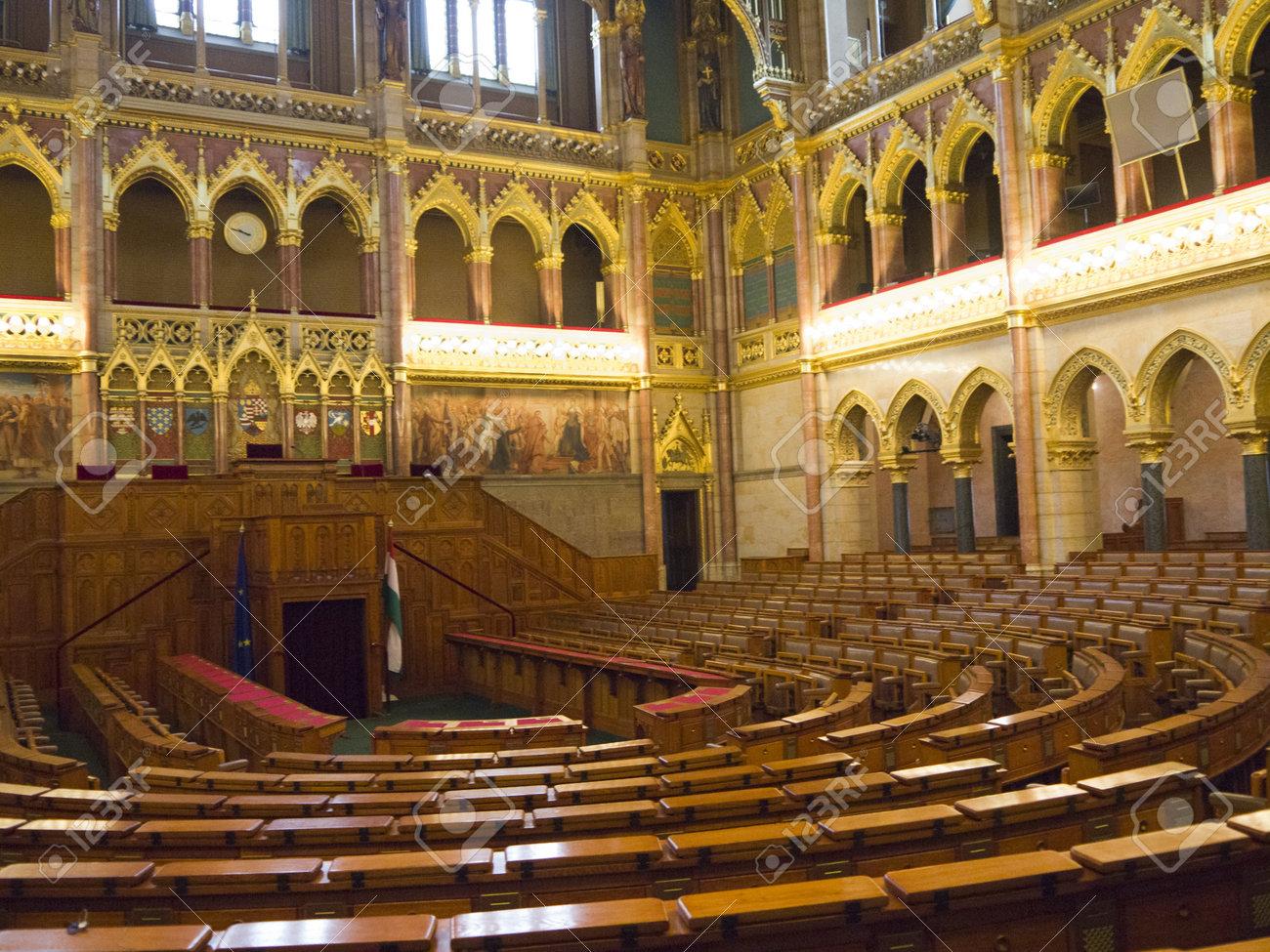 Im Inneren Der Häuser Des Parlaments In Budapest Ungarn Lizenzfreie ...