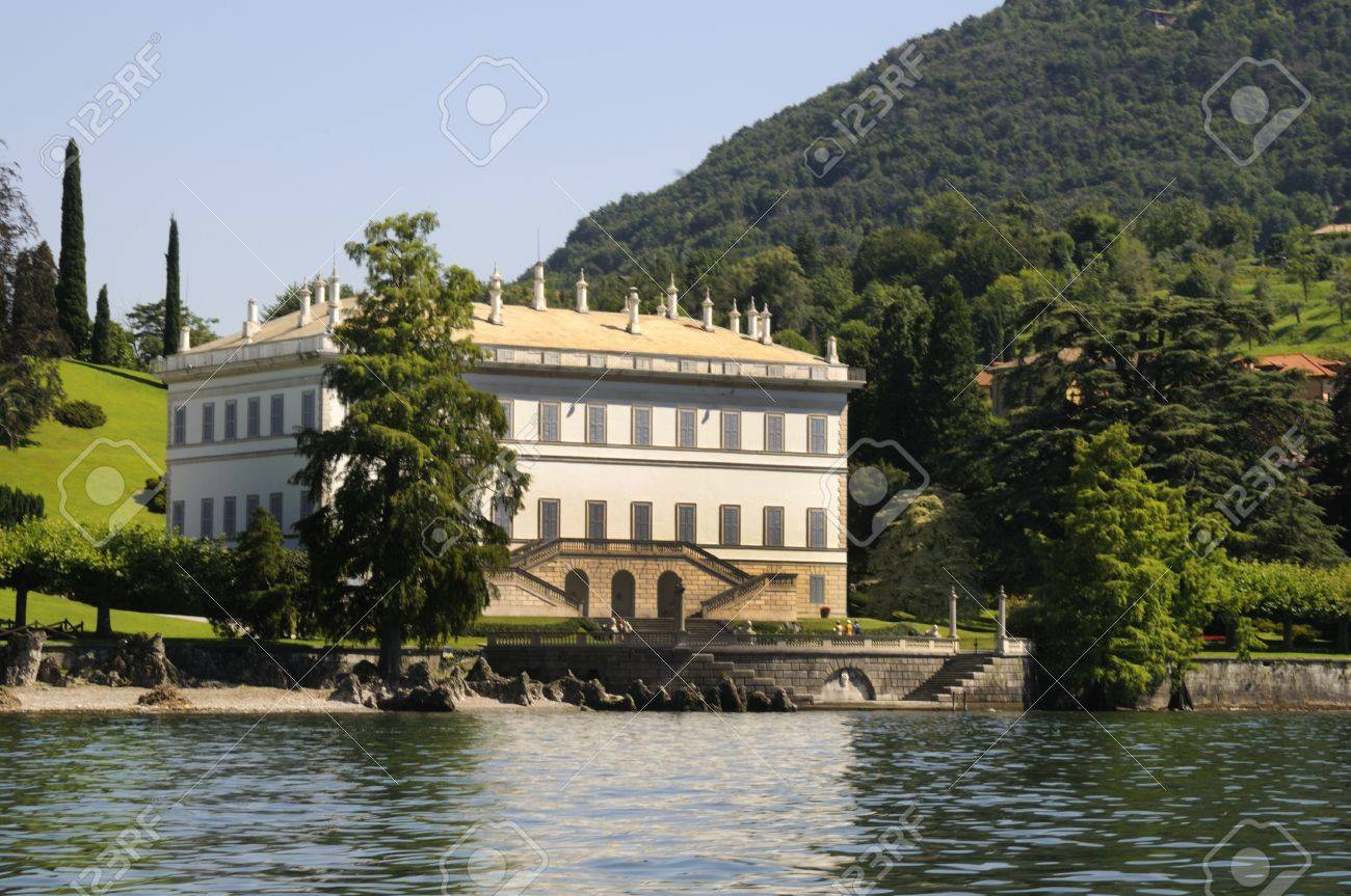 Stock photo villa melzi on lake como in italy this is one of the most beautiful villas on this spectacular lake in northern italy