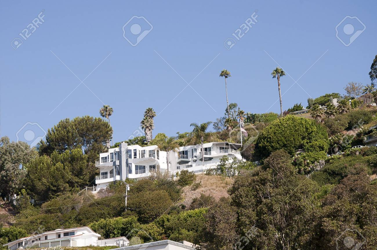 Beach House In Malibu California Usa Stock Photo Picture And
