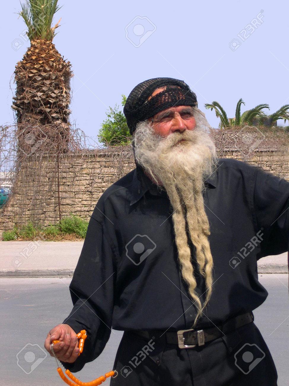 cele mai bune preturi ultima reducere cel mai mic pret Man In Traditional Cretan Dress In Stret In Rethymno Crete Greece ...