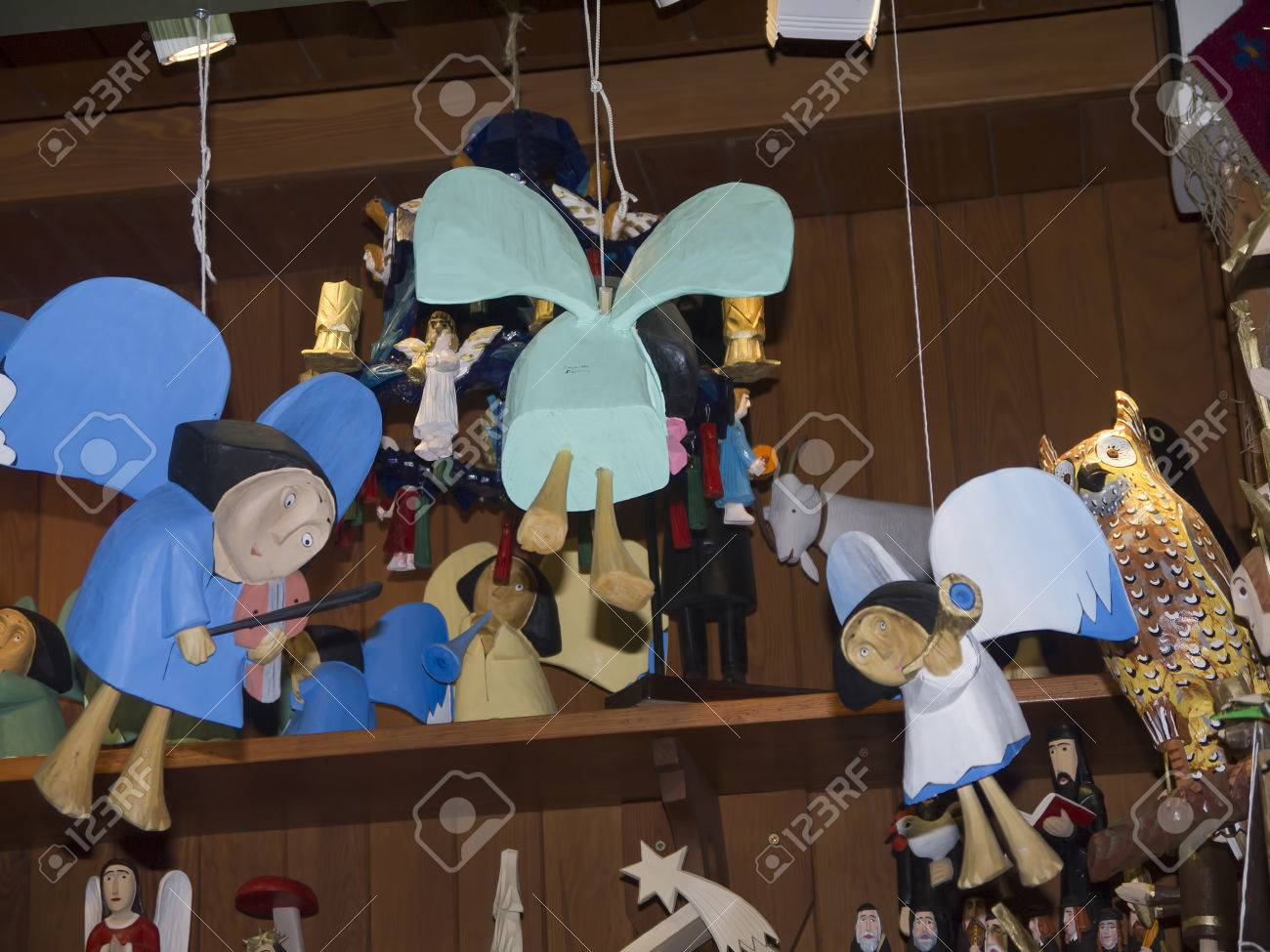 Wooden Angels For Sale In The Cloth Hall Krakow