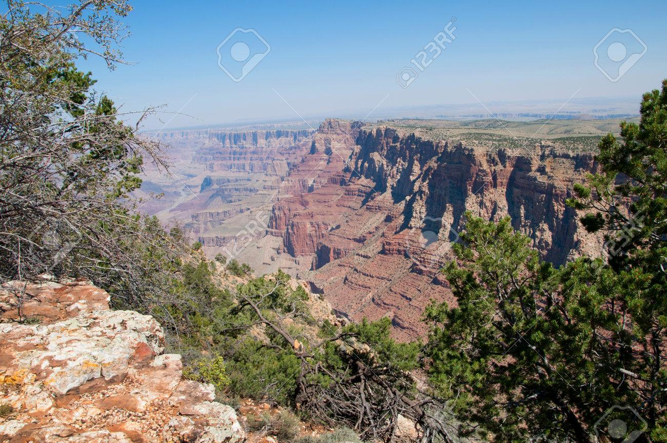Blick Von Desert View Watchtower Uber Grand Canyon Arizona Usa