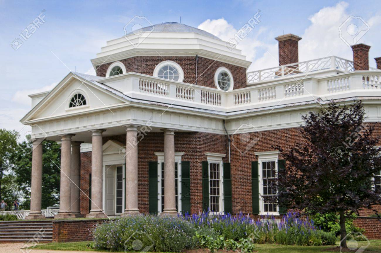 The Graceful House Built By Thomas Jefferson On The Potomac River