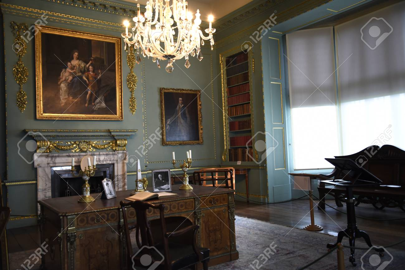 Beautiful Period Room In Temple Newsam House In Leeds Yorkshire Stock Photo    52517020
