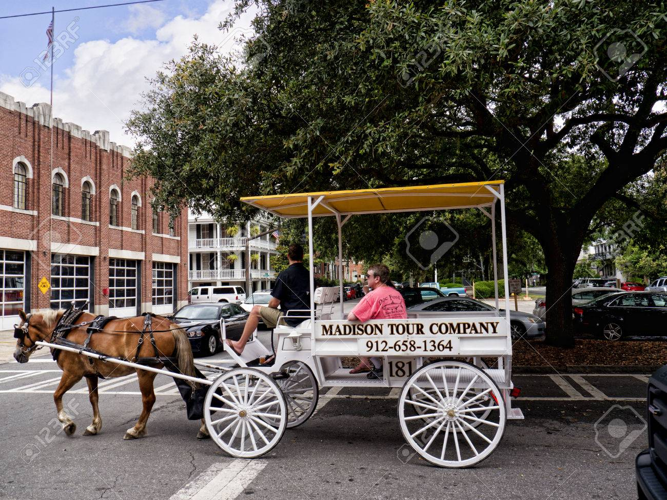 Savannah In Georgia Is Known For Its Manicured Parks Horse Drawn