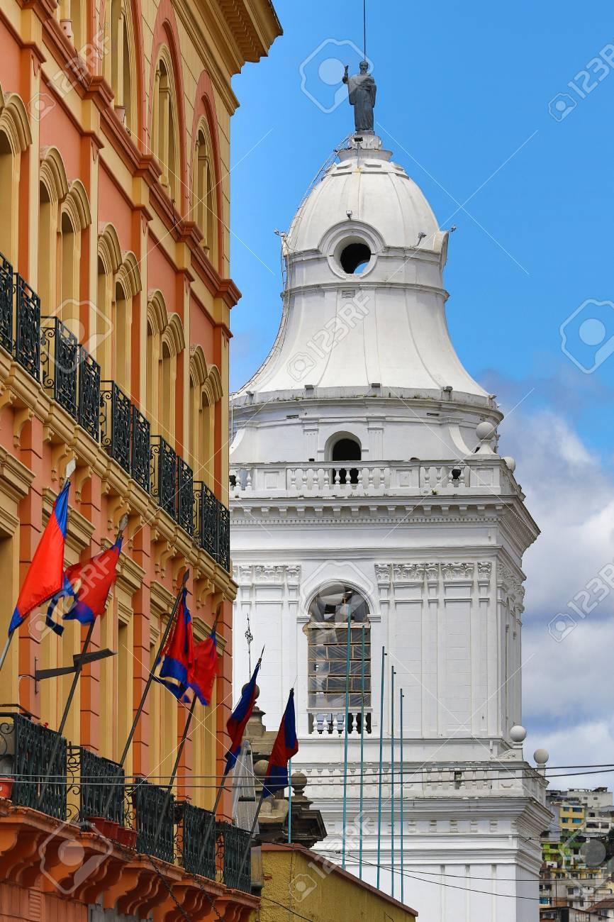 Colonial Architecture In Quito Ecuador Stock Photo Picture And