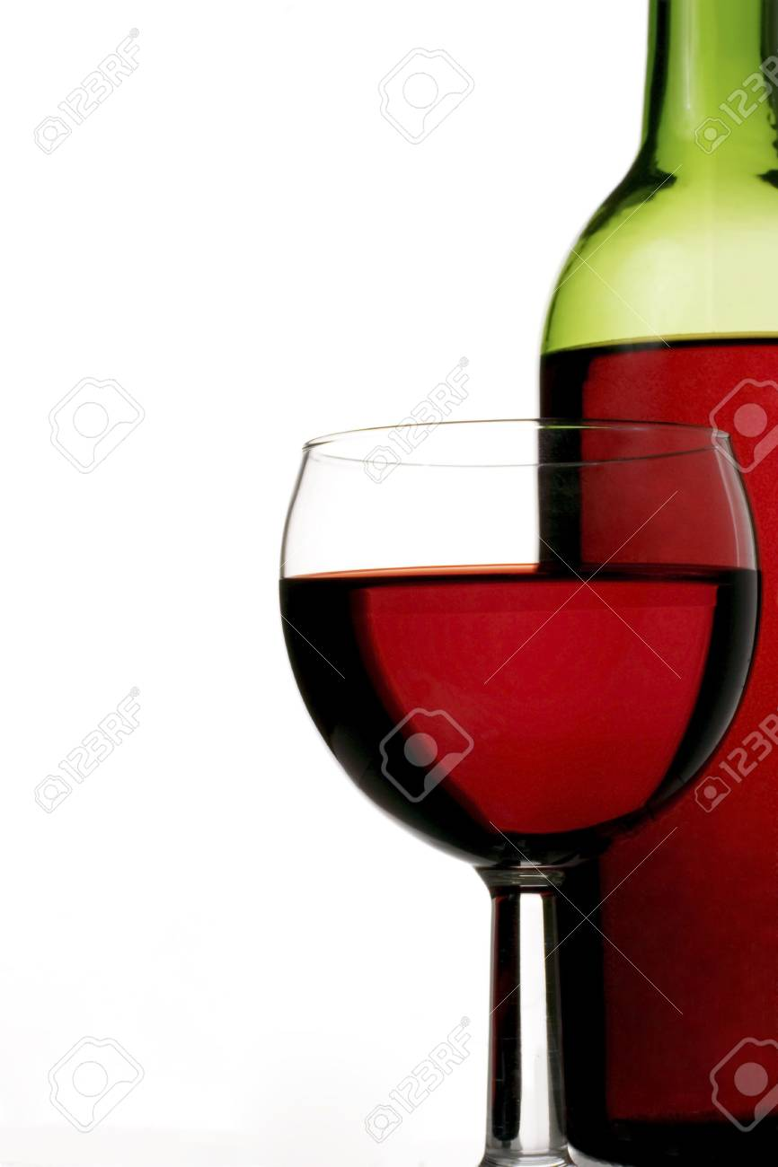 red wine glass and bottle Stock Photo - 312535