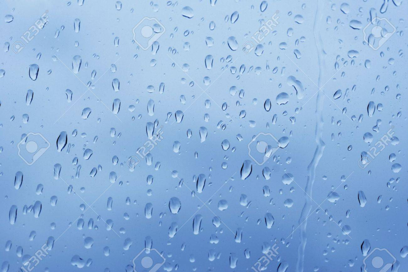 Rain Falling On A Window
