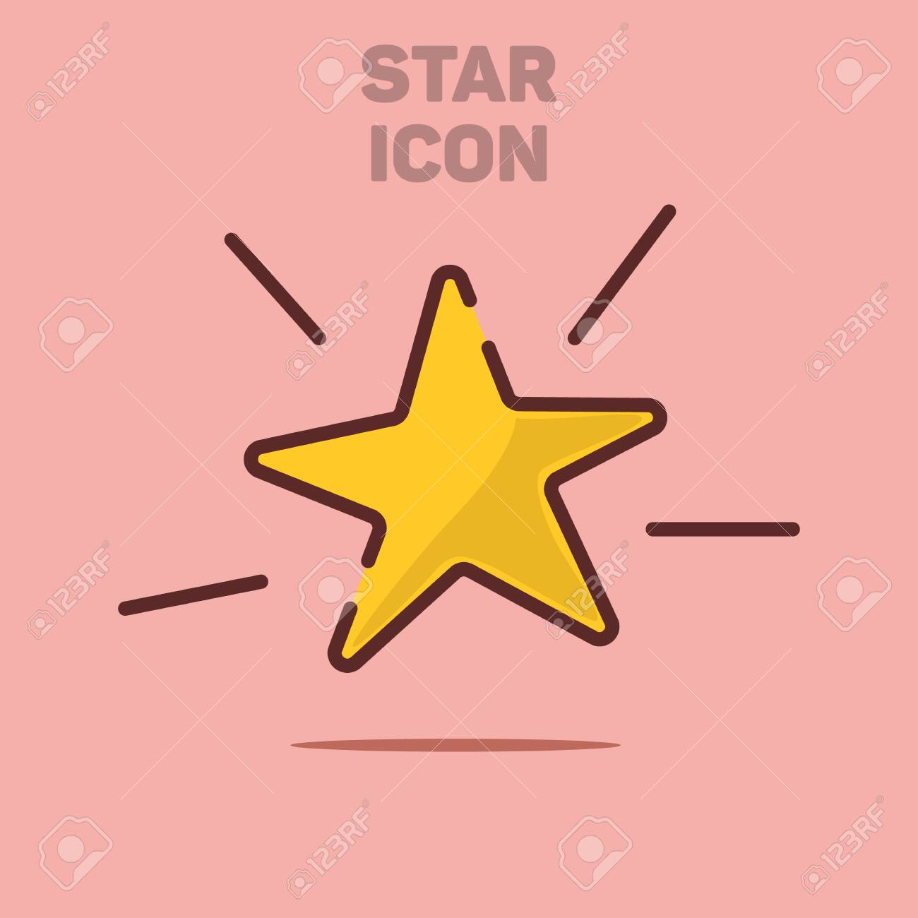 Isolated Flat Star Icon Vector Illustration Background - 132039528