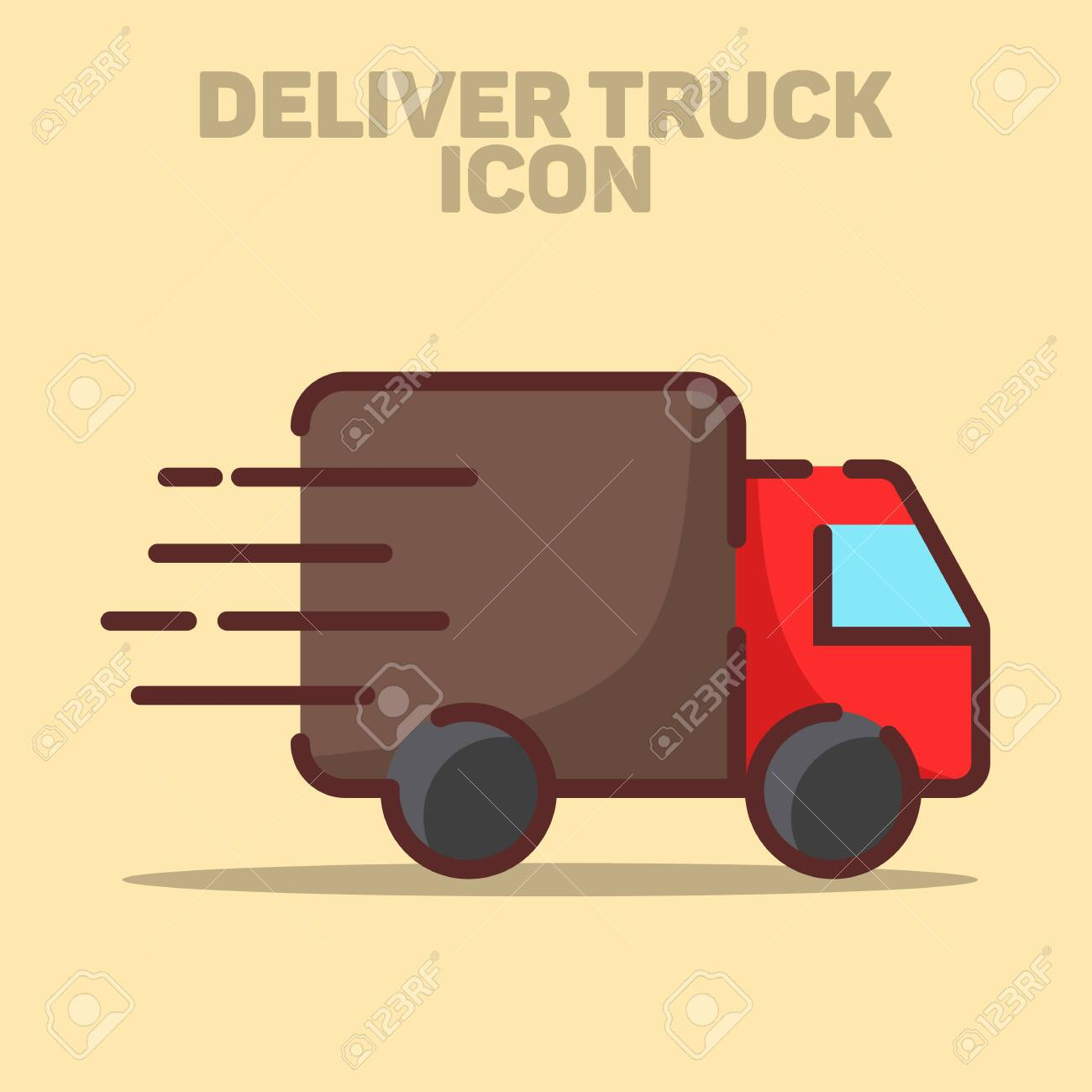 Isolated Delivery Truck Icon Vector Illustration - 132041077