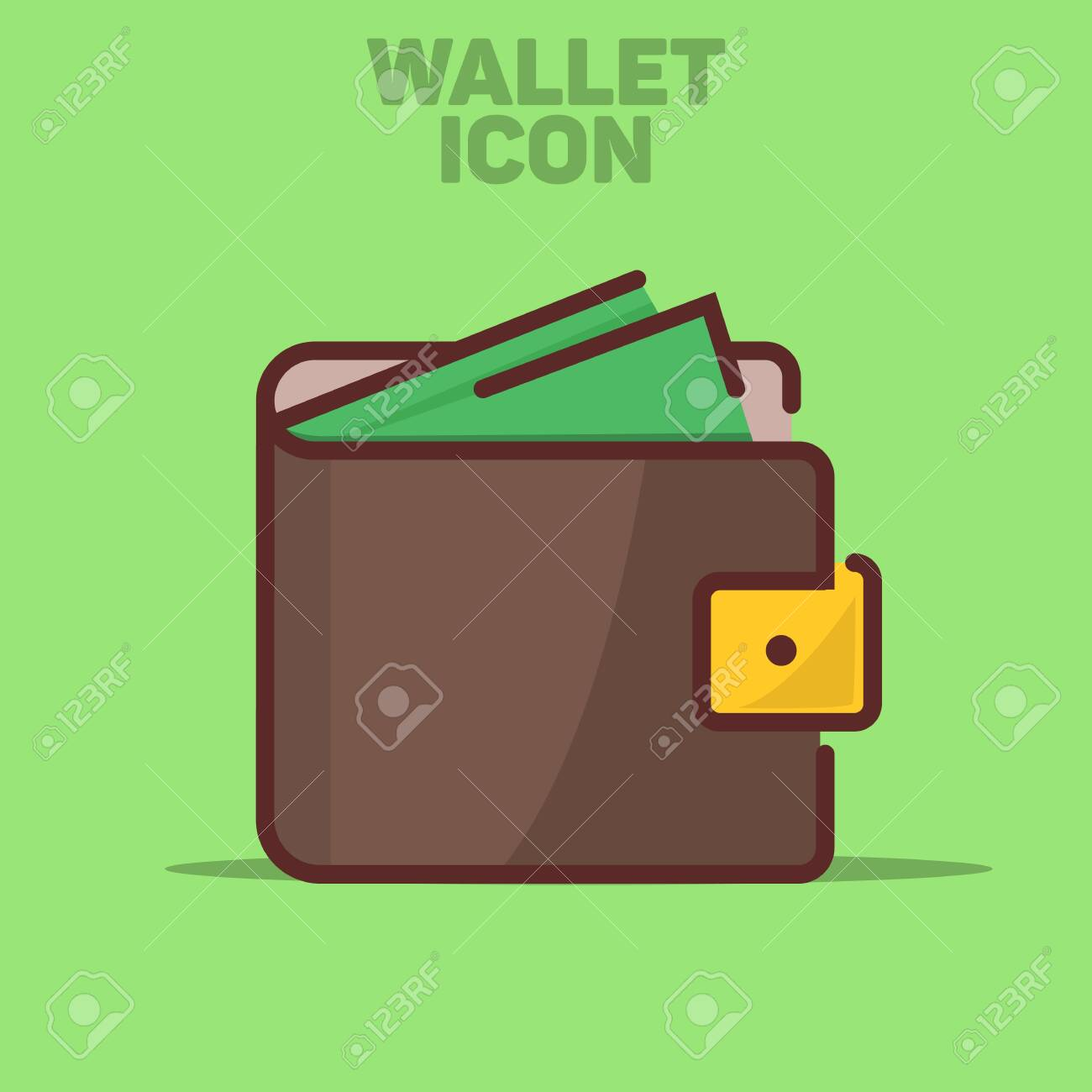 Isolated Wallet Icon Vector Illustration Green Background - 132039788