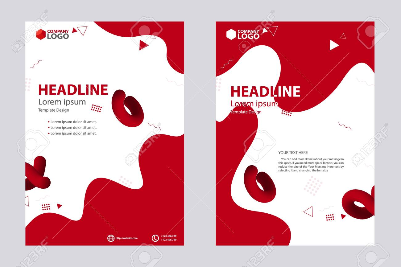 Abstract Design Bi-fold Brochure, Flyer, Poster, Vector Template Design - 132039244