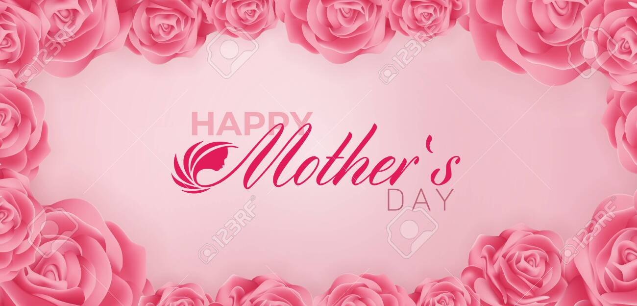 Beautiful Happy Mothers Day Vector Banner ad design Template - 144688073