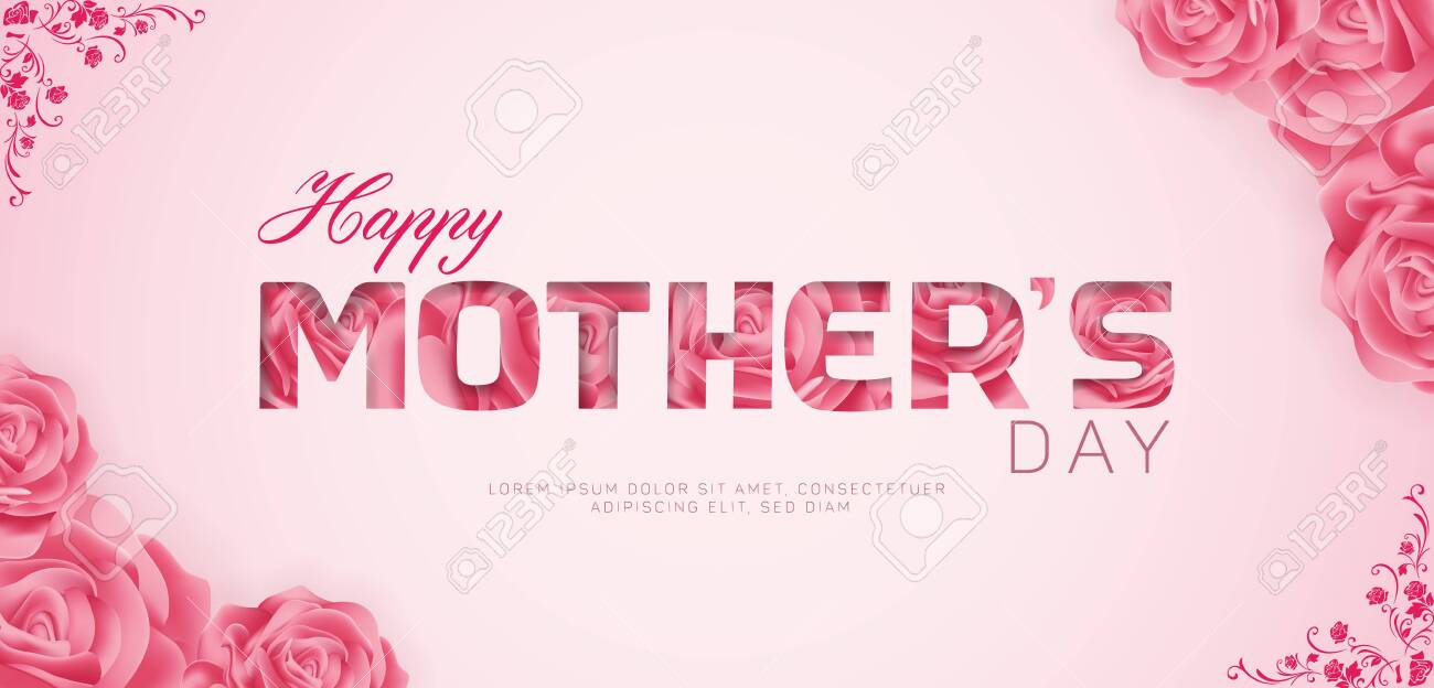 Beautiful Happy Mothers Day Vector Banner ad design Template - 144688079
