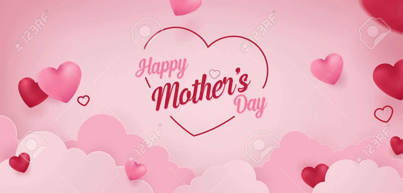 Happy Mother's Day Vector Banner Concept Background Illustration - 164379012