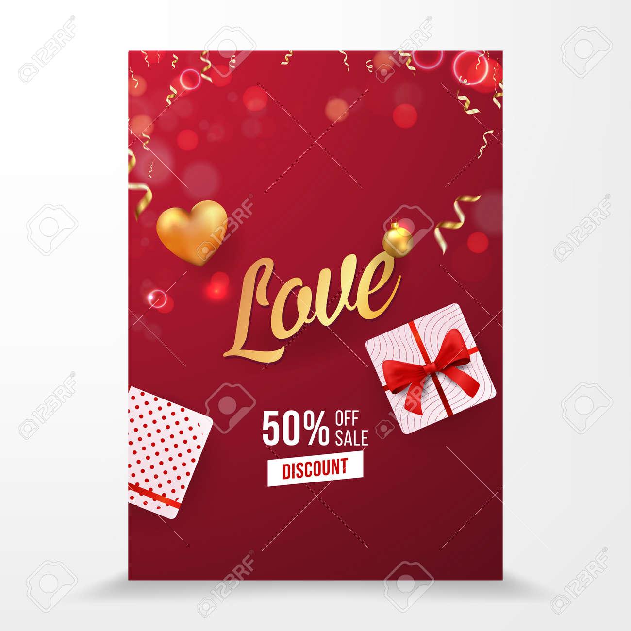 Love Vector Selling Brochure Template Design - 164379036