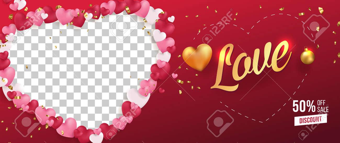 Love Vector Selling Banner,Poster,Flyer Template Design - 164379043