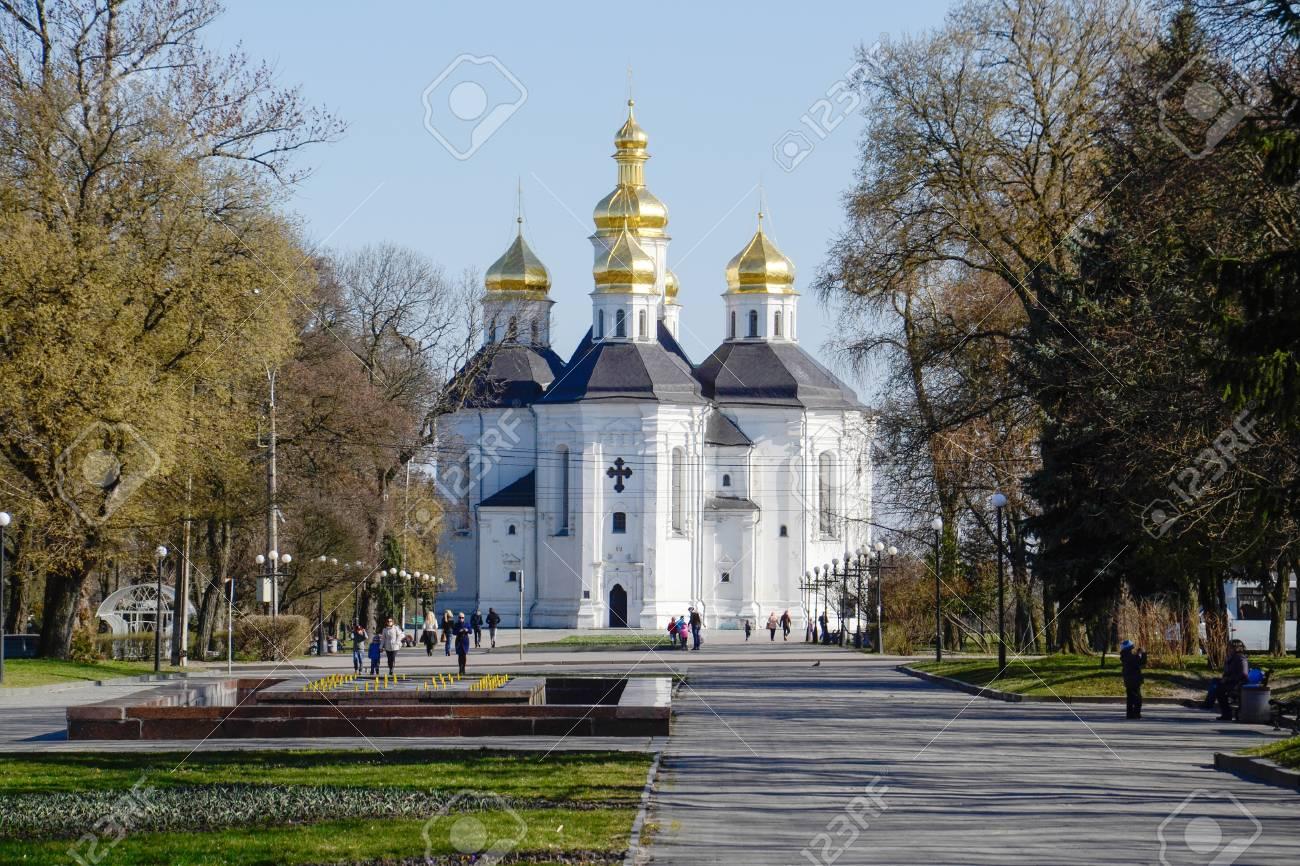 Catherine s church in Chernigov  Ukraine Stock Photo - 27336997