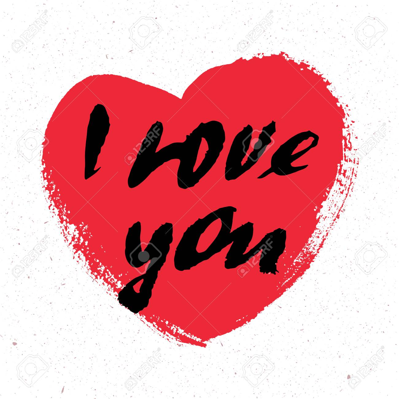 I Love You I Heart You Valentines Day Greeting Card With