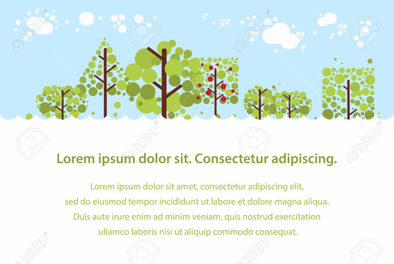 summer forest flat background simple landscape for your design rh 123rf com