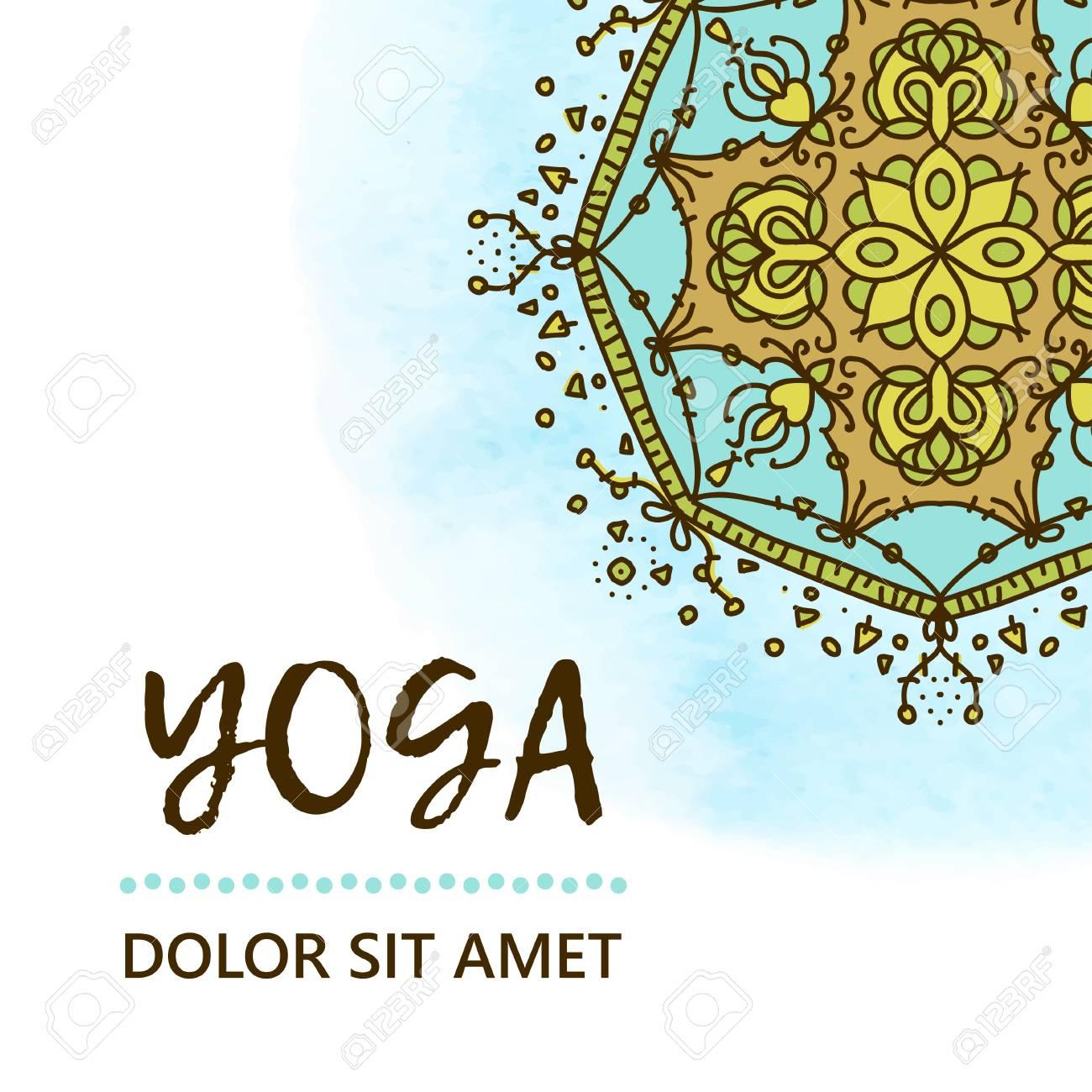 Plantilla De Póster Para El Día Internacional Del Yoga. Flyer Para ...
